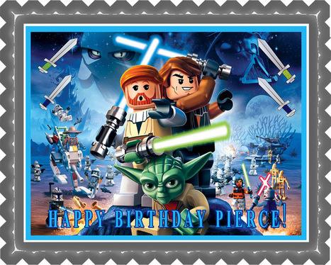 Fine Lego Star Wars 1 Edible Birthday Cake Topper Or Funny Birthday Cards Online Overcheapnameinfo