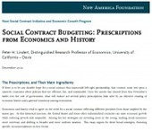 Social Contract Budgeting: Prescriptions from Economics and History | NewAmerica.net | Inequality | Scoop.it
