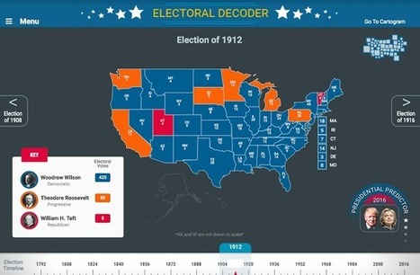 Gaming The 2016 Election - Animations & Maps To Decode The Electoral College | Design in Education | Scoop.it