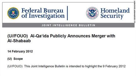 FIRST ON CNN: U.S. law enforcement bulletin on al Qaeda-al Shabaab merger – CNN Security Clearance - CNN.com Blogs   Criminal Justice in America   Scoop.it