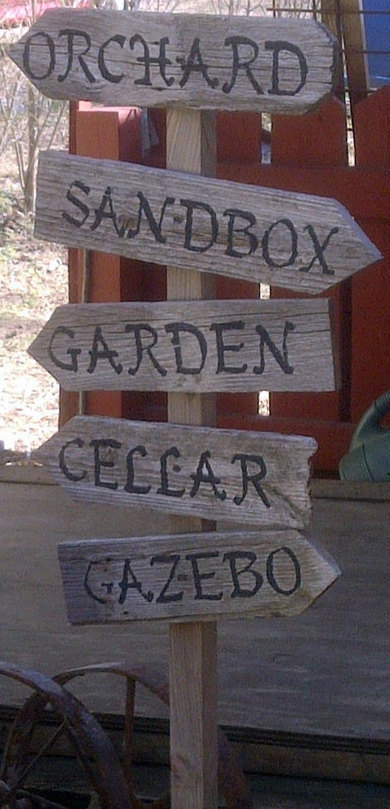 Garden sign using recycled wood | Upcycled Garden Style | Scoop.it