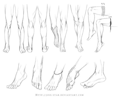 Legs And Feet Drawing Reference
