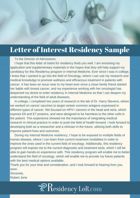 Letter of interest residency sample residency letter of interest residency sample residency lor samples scoop expocarfo Gallery