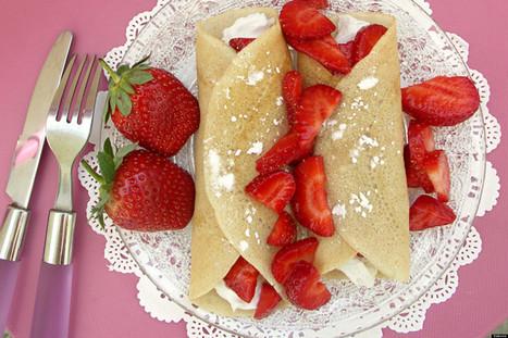 Vegan Crepes With Coconut Cream And Strawberries | My Vegan recipes | Scoop.it