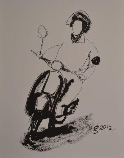 Art House Mum: Vespa Rider in a Rush | Vespa Stories | Scoop.it