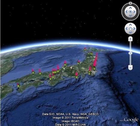 [Eng] Une compilation de cartes de radioactivités au Japon | Pachube-community | Japon : séisme, tsunami & conséquences | Scoop.it
