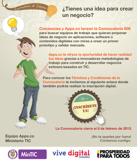 @AppsCo: Participa en la convocatoria nacional para convertir tus ideas en negocios TIC | MEDIA´TICS | Scoop.it