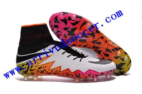 Rainbow - Nike Hypervenom Phantom II FG High Top ACC Waterproof Fly Line  Football Boots   35bef936909
