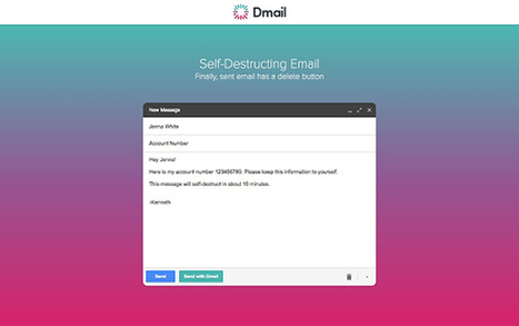 Dmail, mails que se autodestruyen en GmailDosBit | NTICs en Educación | Scoop.it