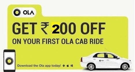 Ola Cabs Offers and Coupon Codes