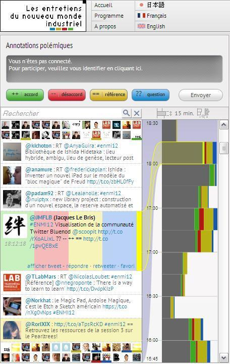 #ENMI12 : Live Video and Annotation via PolemicTweet | Toulouse networks | Scoop.it