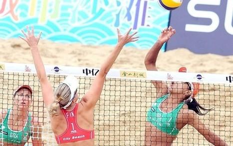 Invictas, duas duplas brasucas lideram grupos na chave principal do Circuito Mundial de Volei de Praia, em Xangai   esportes   Scoop.it