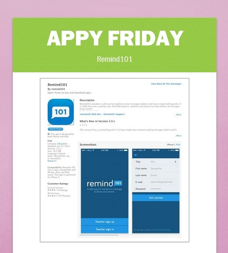 Librarians on the Fly: Appy Friday - Remind101 | librariansonthefly | Scoop.it