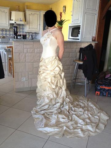 Robe de mariée ivoire cappuccino | Robes de mariée d'occasion | Scoop.it