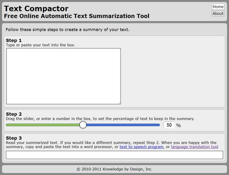 Text Compactor: Free Online Automatic Text Summarization Tool | UDL & ICT in education | Scoop.it