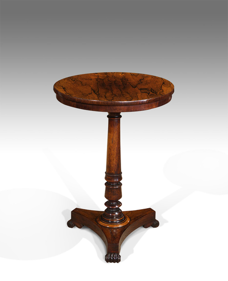 Exceptionnel Antique Rosewood Lamp Table, Rosewood Occasional Table, Small Round  Rosewood Table : Tripod Tables   Antique Occasional Tables   Tilt Top Table    Antique ...