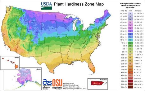 USDA Plant Hardiness Zone Map | Garden Libraries | Scoop.it