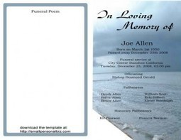 obituary template\' in Free Printable Template to Download | Scoop.it