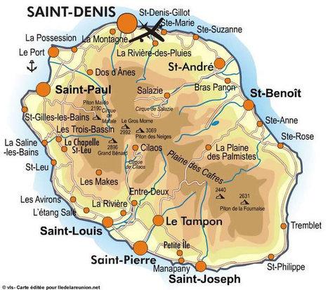 carte de l ile de la réunion carte de l'île de la réunion' in Ile de La Réunion   Scoop.it