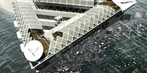 """This Floating Platform Could Filter The Plastic From Our Polluted Oceans (""""listen to daring designers"""") 