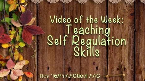 Video of the Week: Teaching Self Regulation Skills | AAC: Augmentative and Alternative Communication | Scoop.it