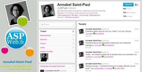 Interview de Community Manager : Annabel Saint-Paul d'aspweb.fr | ConseilsMarketing.fr | CommunityManager | Scoop.it