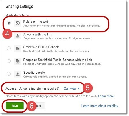 SPS Google Docs and Drive 21 Day Challenge: Day 15 - Making a Document Public | Technology in the Classroom | Scoop.it