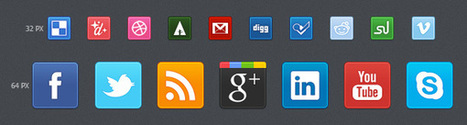 Exclusive New Free Social Media Bookmarking Icon Set | Aries-Graphic Design & Internet Marketing | Scoop.it
