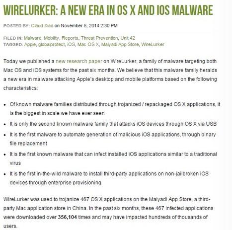 A New Era in OS X and iOS Malware' in Apple, Mac, MacOS, iOS4, iPad