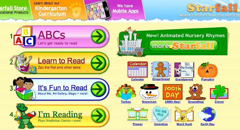 www.starfall.com A Learn to Read Site