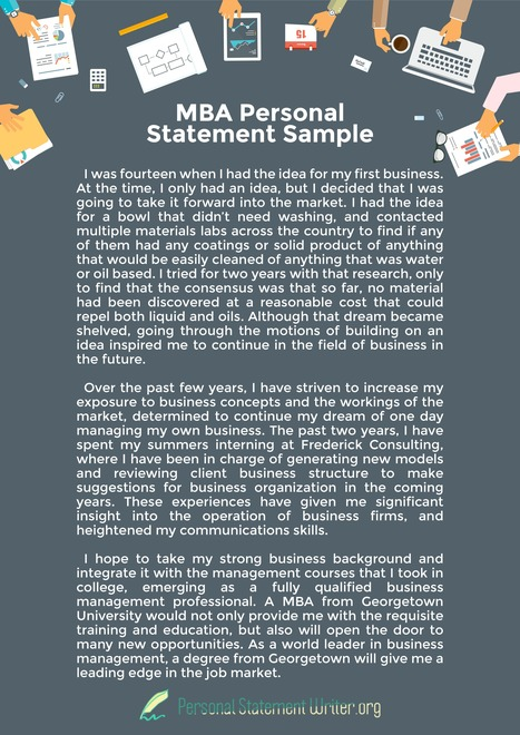 examples mba personal statement