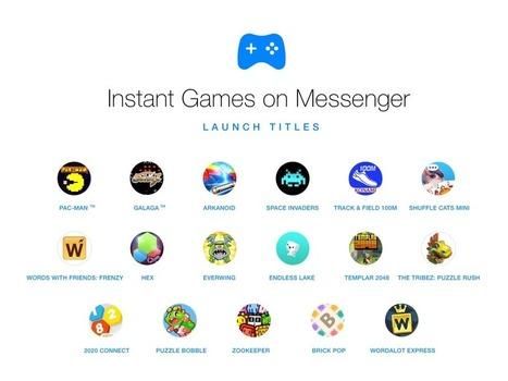 Vous pouvez maintenant défier vos amis à des jeux dans Facebook Messenger | Animer une communauté Facebook | Scoop.it