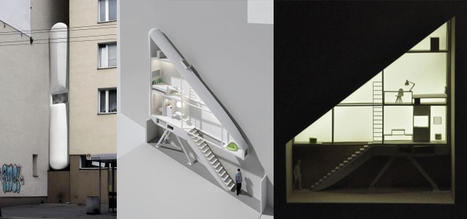 In Poland, designers turn unused crack between two buildings into a home   Strange days indeed...   Scoop.it