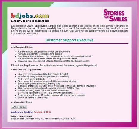 bdjobs today Jobs in BD October 2016 | | Jobs C
