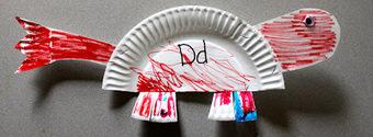 The Activity Mom: Paper Plate Alphabet Craft - D is for Dinosaur | Literacia no Jardim de Infância | Scoop.it