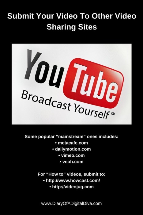 How To Submit Your Video To Other Video Sharing Sites | Promote Your Passion | Scoop.it
