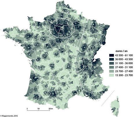 Inégalités géographiques de revenu en France métropolitaine -Revue Mappemonde n°116 avril 2016 | Digital & eCommerce | Scoop.it