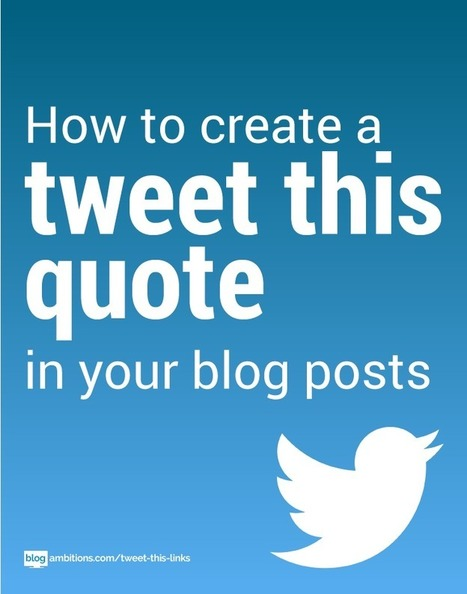 How to make a click to tweet quote | Sosiaalinen Media | Scoop.it