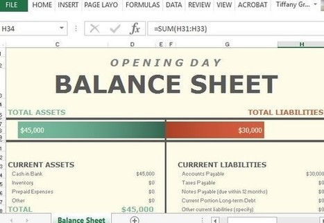Free Opening Day Balance Spreadsheet Template For Microsoft Excel | Progressive Training | Scoop.it