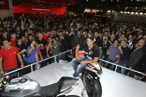 Ducati Riders visit at the Milan EICMA Show Ducati Stand | Ducati Facebook | Ductalk Ducati News | Scoop.it