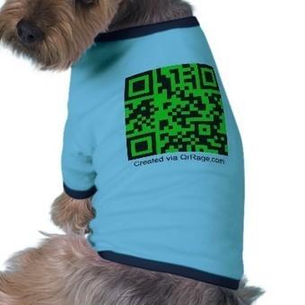 QrRage.com - générateur de code fait sur commande Vêtements Pour Animaux Domestiques de Zazzle.fr   Sport connecté et quantified self   Scoop.it