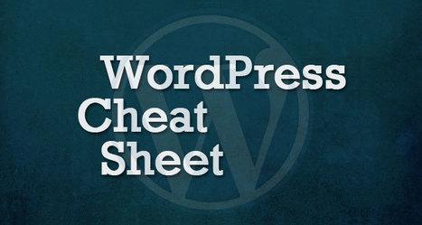 Best WordPress Cheat Sheet For Designers And Developers | Adobe Illustrator Tutorials | Scoop.it