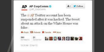Piraté, le compte Twitter de l'agence AP annonce un attentat contre Obama | Les médias face à leur destin | Scoop.it