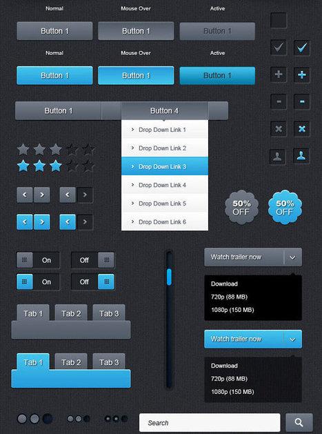 20 Useful Set of Free Web Element PSD | DJDESIGNERLAB | DISEÑO Y RECURSOS WEB | Scoop.it