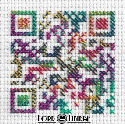 Psychedelic QR Code Cross Stitch | artcode | Scoop.it