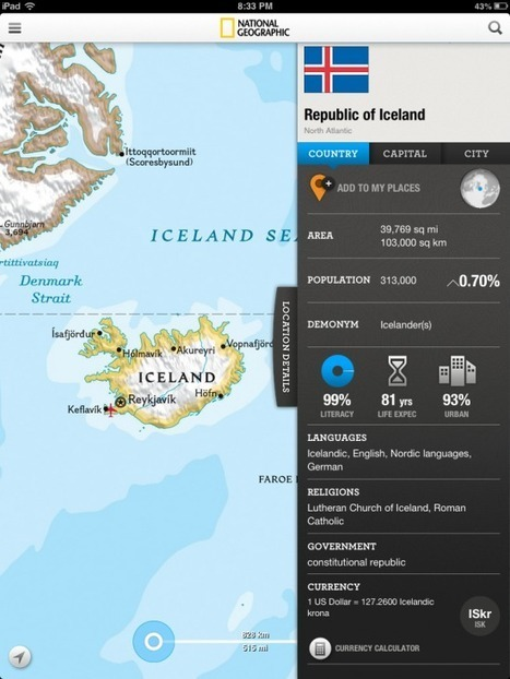 National Geographic World Atlas for iPad   Learning, Teaching & Leading Today   Scoop.it