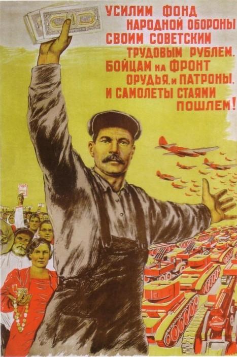 URSS. 1941, affiches et slogans   Vintage, Robots, Photos, Pub, Années 50   Scoop.it
