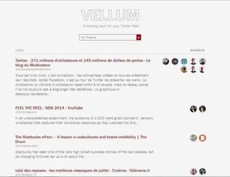 Vellum, un outil Twitter pour voir les liens les plus partagés par ses followers | Journalisme et Internet | Scoop.it