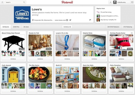 Case Study: Lowe's Pinterest - Pinning to Inspire | Pinterest | Scoop.it