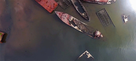 Hauntingly Beautiful Drone Footage of a Boat Graveyard | Strange days indeed... | Scoop.it